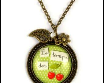 2 pendant necklace temps des cerises