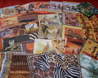 double decoupage African theme set