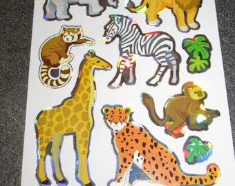 Board of the African savannah animals stickers