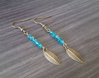 Leaf Turquoise earring