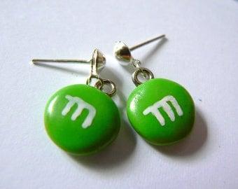 Earrings m & s Green polymer clay Stud Earrings