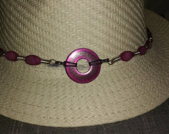Fuchsia Pearl country Hat circumference