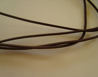 Elastic Ribbon synthetic dark brown 2 mm - 1.30 m wide