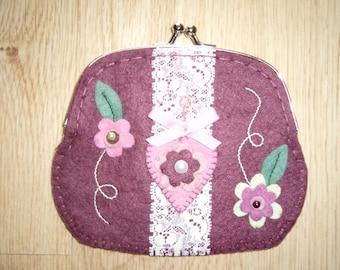 Wool felt purse
