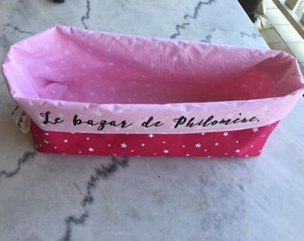 Reserved diaper basket personalized stars