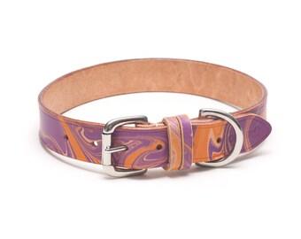 Groovy Baby leather dog collar