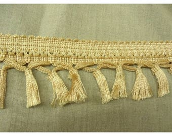 Ribbon with tassel - 9 cm - beige