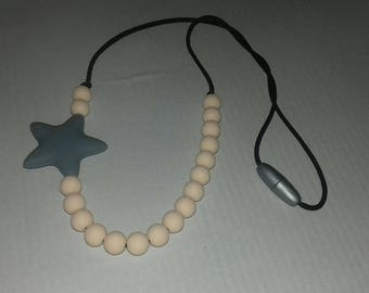 Babywearing or nursing necklace.  Silicone beads