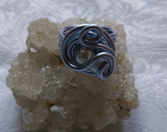 Lavender ring and glass beads