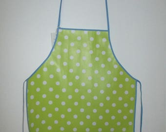 lime green kitchen child 3 to 6 years of canvas oilcloth apron
