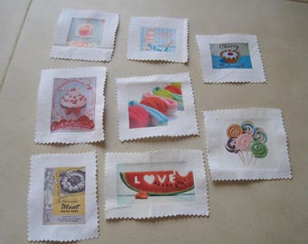 STOCK transfer, image has sewing, baking, cup cake, lollipop