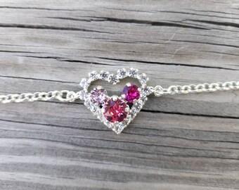 Swarovski Crystal Heart Bracelet