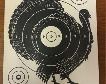 Vintage Sears Roebuck Co. Turkey Paper Hunting Target No. 9 Original