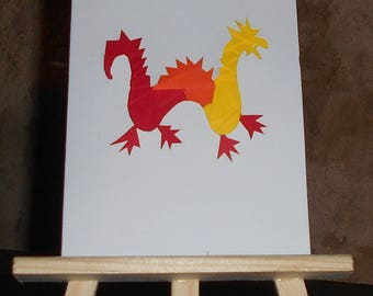 Dragon iris folding card