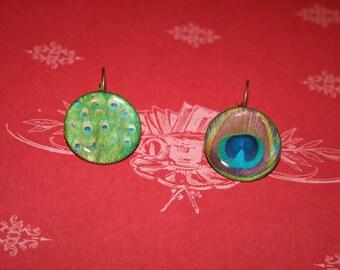 Earrings - fancy 'the peacocks feathers'