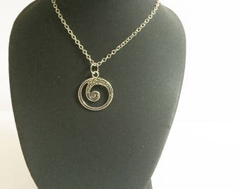 Choker necklace with a spiral pendant