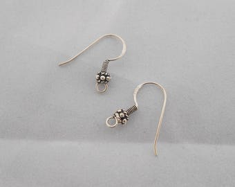 20 mm x 2 925 sterling silver ear hooks