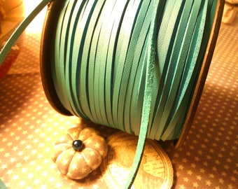 X 2 meters of teal faux leather and suede cord 3 mm for bracelets or braid