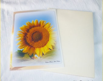 """Double 10 5x15cm made from a photo of a sunflower Sun """"The Sun"""""""