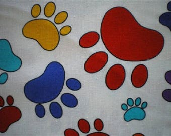 patchwork dog paws fabric multicolored refpatteschienmulti