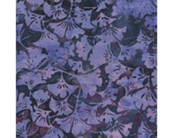blue purple gingkor ref kf04l3 batik patchwork fabric