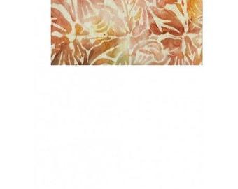 patchwork patterns leaves yellow/pink batik fabric