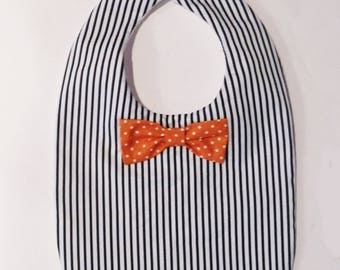 Bib for boy, shirt and bow tie!