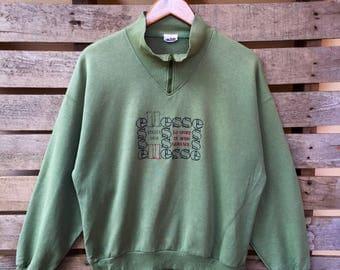 Vintage Ellese Sweatshirt Big Spell Embroidered logo Jumper Pullover 90s L Size Rare Item