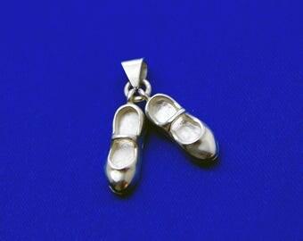 Tap Shoes Silver Pendant