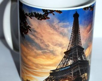 """PARIS and EIFFEL Tower"" mug"