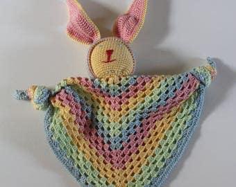 Rainbow crochet toy