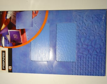 "Plate 4 patterns ""Nature"" Fiskars embossing/Texture"