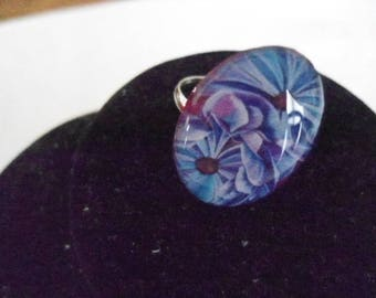 rings with an oval cabochon Adjustable ring