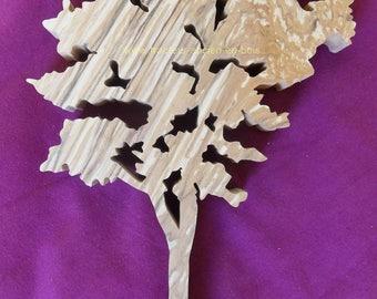 """Ash"" wooden tree wall decor"