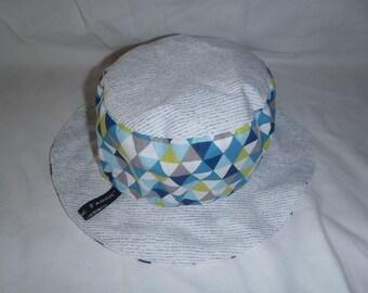 Hat - Reversible bucket Hat - 3-6 months (44 cm in diameter)