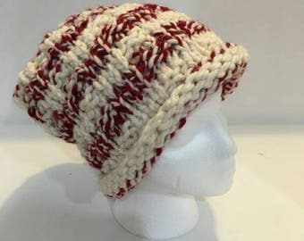 Candy Cane Striped Knit hat