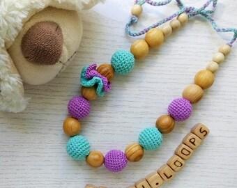 Organic breastfeeding necklace
