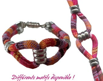 KIT Ethnifun - different patterns available - ethnic cord Bracelet & silver rings