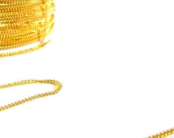 Chain mesh plate1 meter - gold color