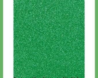 Paper glitter green Scrapbooking - 20 x 29.5 cm - new