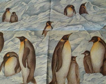 "Pretty NAPKIN pattern ""Penguins"""
