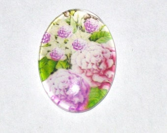 """""""Flowers"""" in size 13-18mm glass cabochon"""