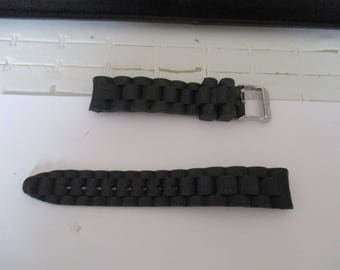 Black silicone wristwatch