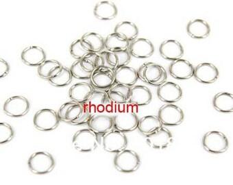 set of 20 6mm silver metal rings