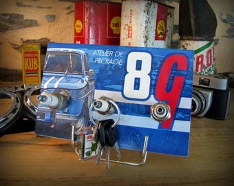 key hook wall renault gordini 8, 3 candles by deco cars