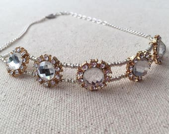 Beaded Crystal Choker