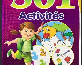Carnet d'activités / cahier vacances pour enfant maternelle - violet