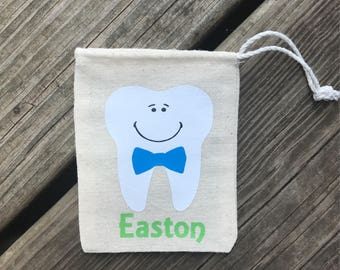 Personalized Tooth Fairy Drawstring Pouch