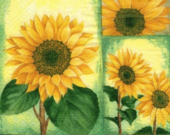 Sunflower napkin rings/napkin/servietten/tovaglioli 475