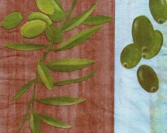 416 - Olive - paper towel